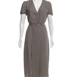 Reformation Gingham Wrap Dress - M